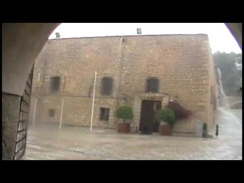 Alicante Santa Barbara Castle Caught in a storm