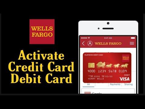 Activate Wells Fargo Debit Card & Credit Card Debit Card Activation Online Wells Fargo WellsFargo