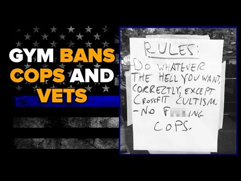 EAV Barbell Club BANS Cops and Active Duty Soldiers