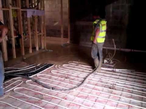 Underfloor Heating Floor Screed pouring screed