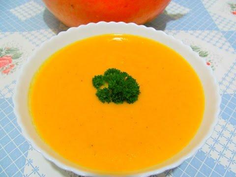 Рецепт Сливочный крем суп из тыквы