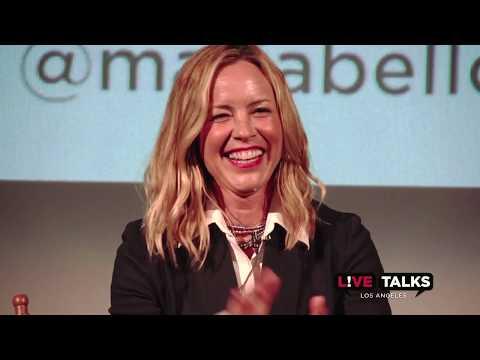 Maria Bello in conversation with Cheri Oteri at Live Talks Los Angeles