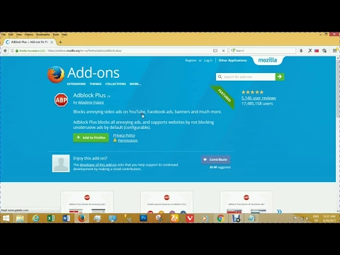 How to Install Adblock Plus Add-ons in Firefox Browser Windows 7/8/8.1 & 10 [ Simple & Fast 2017 ]