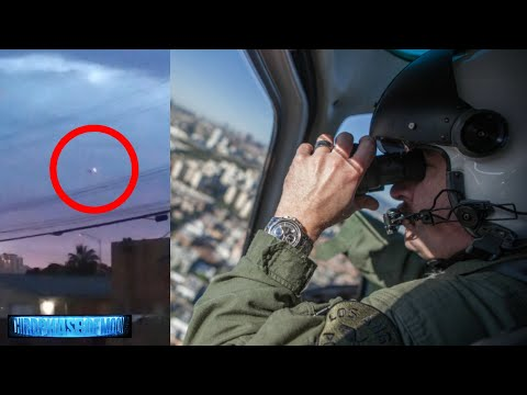 Vegas Police Helicopter Surround A UFO In Broad Day Light!