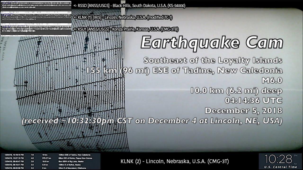 Download Earthquake Cam - Tadine, New Caledonia M6.0 & M7.5 . 12.5.2018 ( 地震ウェブカメラ )