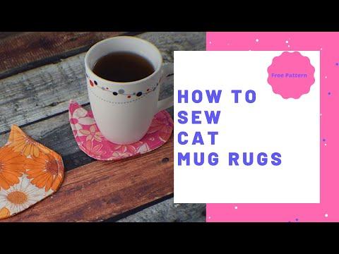 How to Make Cat Mug Rugs