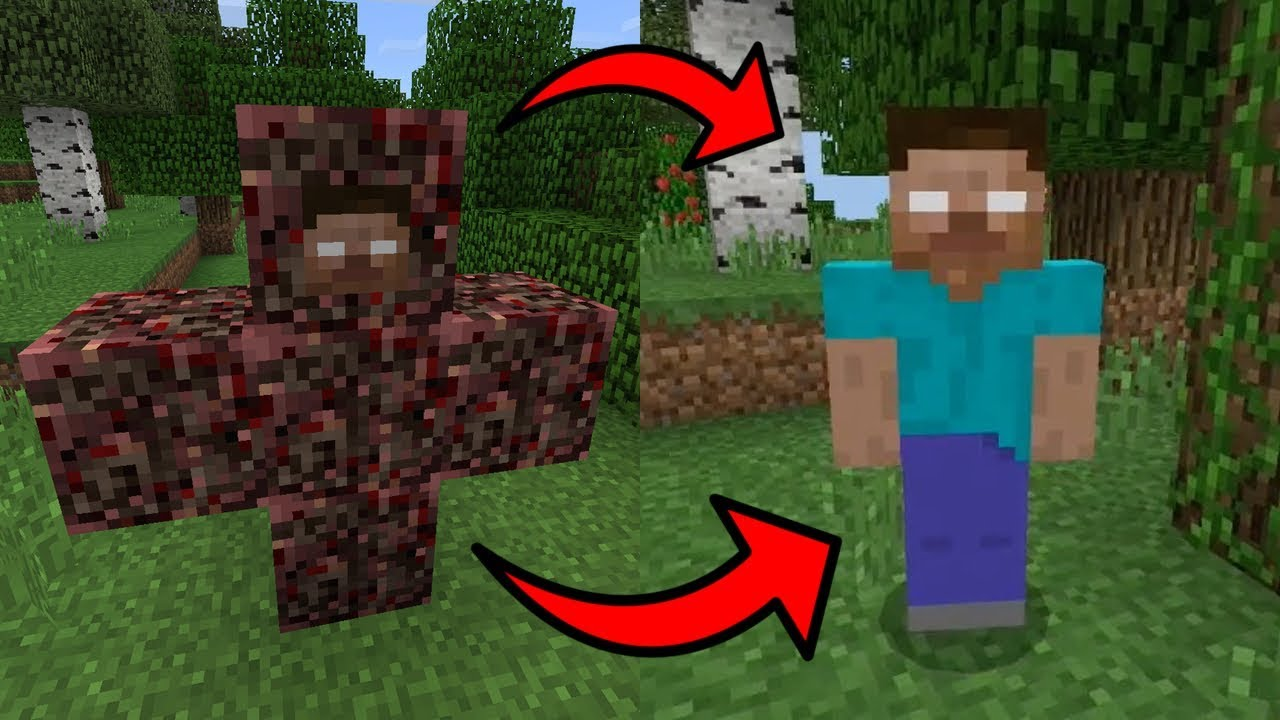how to spawn herobrine in minecraft pe creative mode