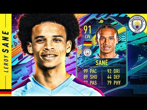 THIS CARD IS INSANE!! 91 MOMENTS LEROY SANE REVIEW!! FIFA 20 Ultimate Team