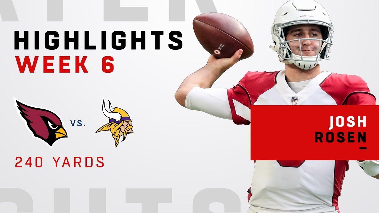 Josh Rosen Highlights vs. Vikings