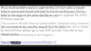 Upgrading Q-See DVR firmware