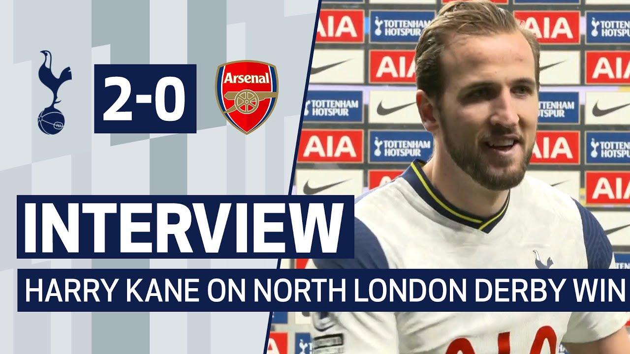 Interview Harry Kane On North London Derby Win Spurs 2 0 Arsenal Youtube