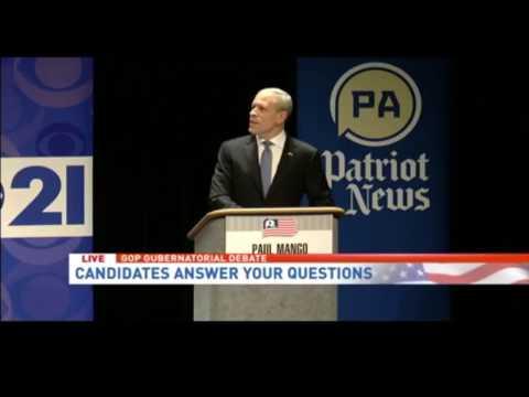 Pa. GOP governors debate: Scott Wagner, Paul Mango face off on bathroom bill
