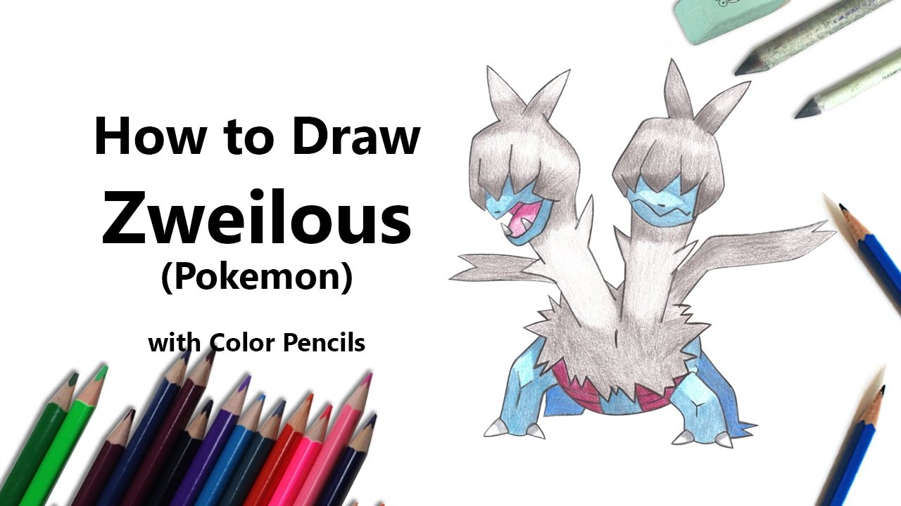 How To Draw A Zweilous From Pokemon With Color Pencils Time Lapse
