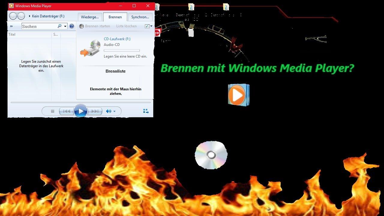 Windows Media Player Brennen Fehler