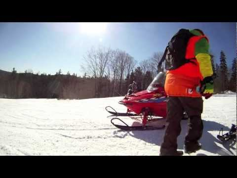 Snowmobiling near okemo