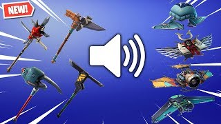 Fortnite: ALL LEAKED SOUNDS FOR PICKAXES & GLIDERS! *HD MODELS + FX!* (v6.21 Update)