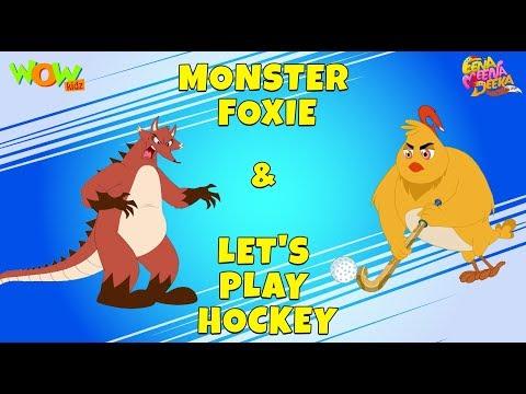 Monster Foxie the fox   Let's Play Hockey- Eena Meena Deeka - Animated cartoon - Non Dialogue