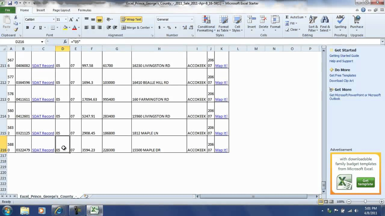 how to get excel to add numbers in columns
