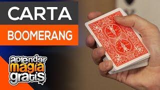 La carta boomerang floritura profesional