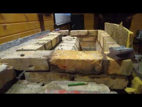 Кладка камина из старинного кирпича (часть 2)