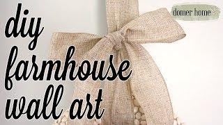 DIY FARMHOUSE WALL ART | DIY & DECOR CHALLENGE