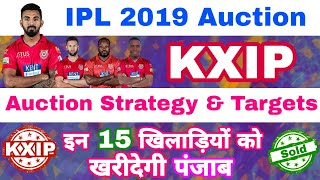IPL 2019 Auction KXIP Auction Strategy & List Of 15 Targeting Players | MY Cricket Production