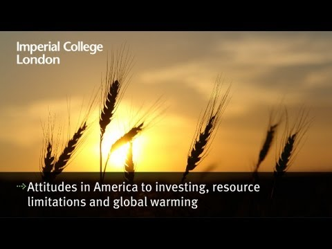 Attitudes in america to investing resource limitations and g