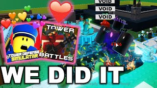 tower defense simulator but tower battles | roblox
