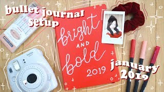 bullet journal set up 2019 | leuchtturm 1917