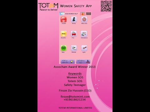 Image result for Women Safety Totem SOS help App