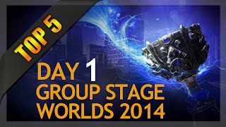 Top 5 Plays - Worlds Group Stage 1 Day 1 (League of Legends)