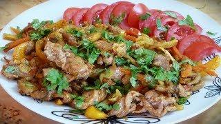 Куриное грудинка или индейка с овощами (Мукпац)