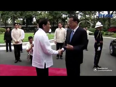 Duterte welcomes Chinese Premier Li Keqiang in Malacañang