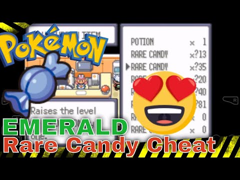 Pokemon Emerald Rare Candy Cheat Works For My Boy, John GBA, VBA And GBA4iOS