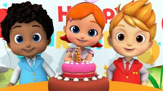 Happy Birthday Song | Cake Song | Nursery Rhymes & Kids Songs For Children