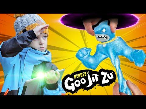 Герои Гуджитсу игрушки как Егор их перехватил! Heroes Of Goo Jit Zu