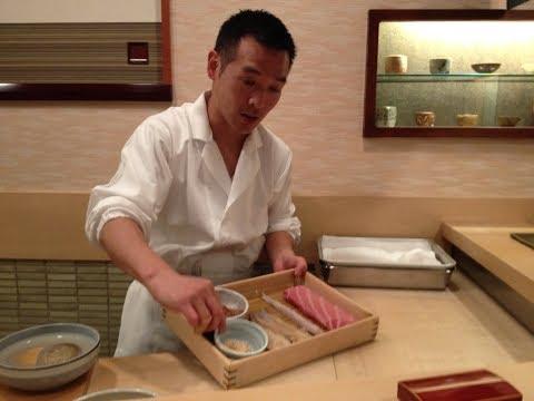 Eating at SUKIYABASHI JIRO