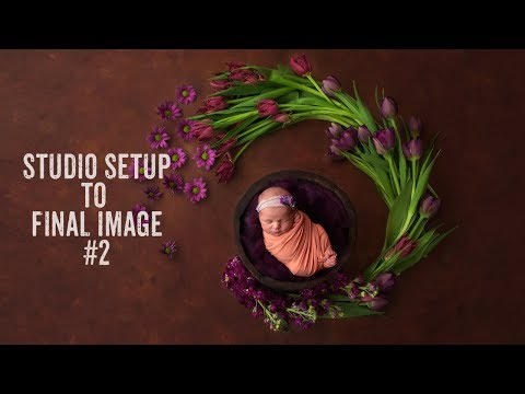 Newborn Photography Tips | Composite Tutorial PS | Setup to final image #2 thumbnail