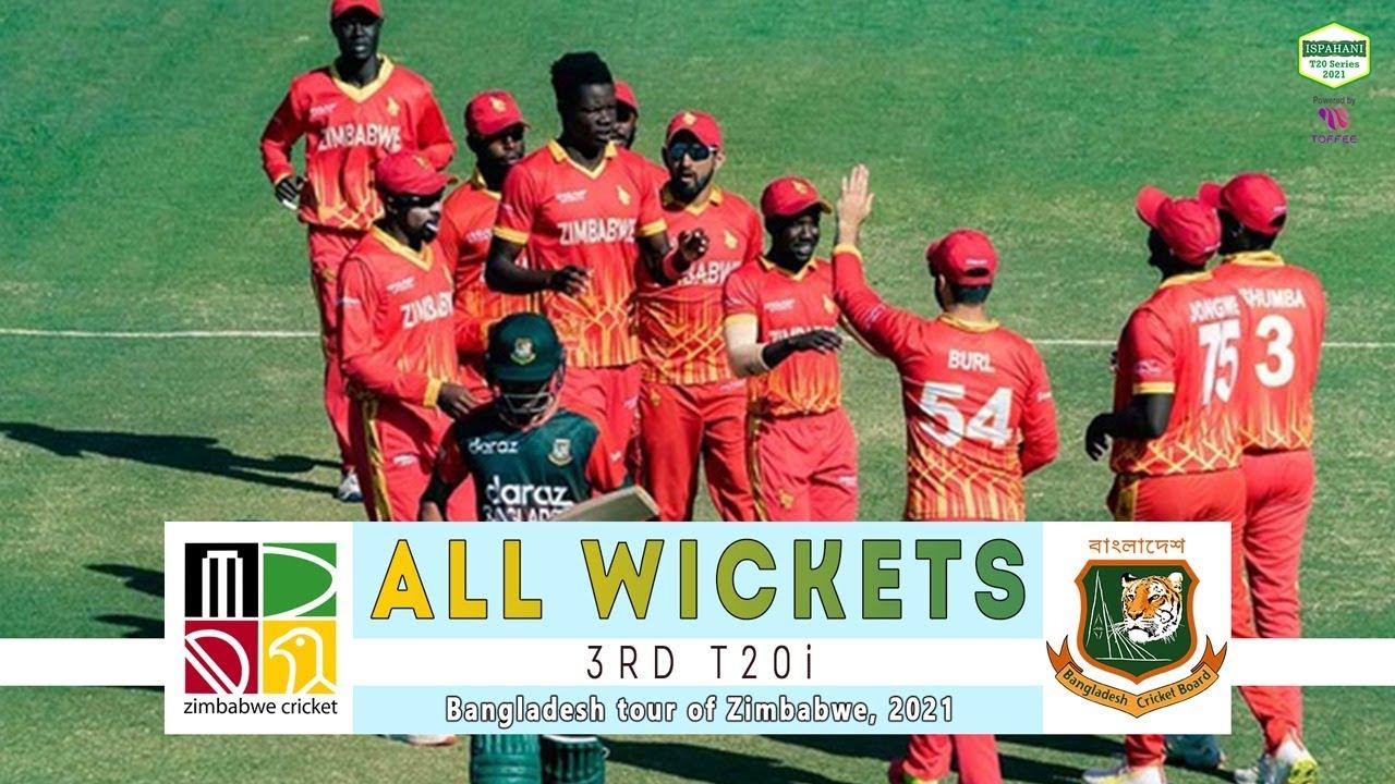 All Wickets || Zimbabwe vs Bangladesh | 3rd T20i | Bangladesh tour of Zimbabwe 2021