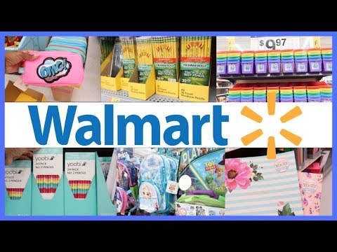 WALMART BACK TO SCHOOL SUPPLIES SHOP WITH ME 2019