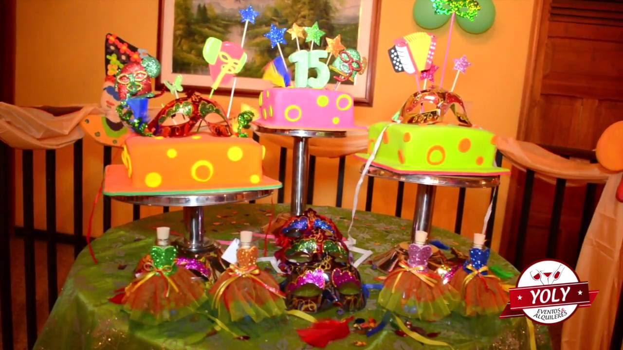 Decoraci n estilo carnaval eventos yoly youtube - Decoracion de carnaval ...