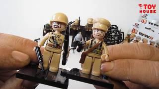 Солдаты ЛЕГО с оружием Вторая Мировая Война. Конструктор SLUBAN лучший аналог LEGO