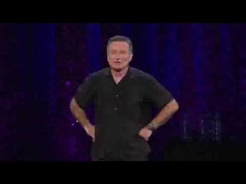 Robin Williams - WMD Tour - christopher walken, popeye, bono, and walter cronkite skit