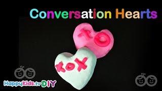 Making Conversation Hearts | PlayDough Crafts | Kid's Crafts and Activities | Happykids DIY