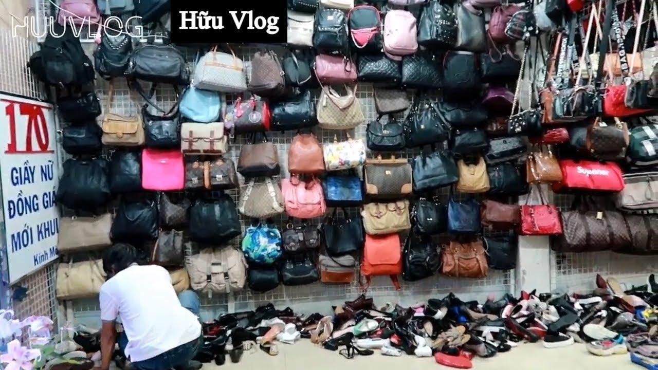 Chợ Đồ Si Bàn Cờ Săn Giày Hàng Hiệu | Hữu Vlog