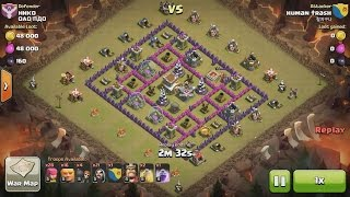 Clash of Clans TH8 vs TH8 Giant & Wizard (GiWi) Clan War 3 Star Attack