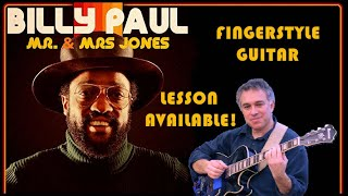 Me and Mrs. Jones - Billy Paul - Solo Guitar - lesson available