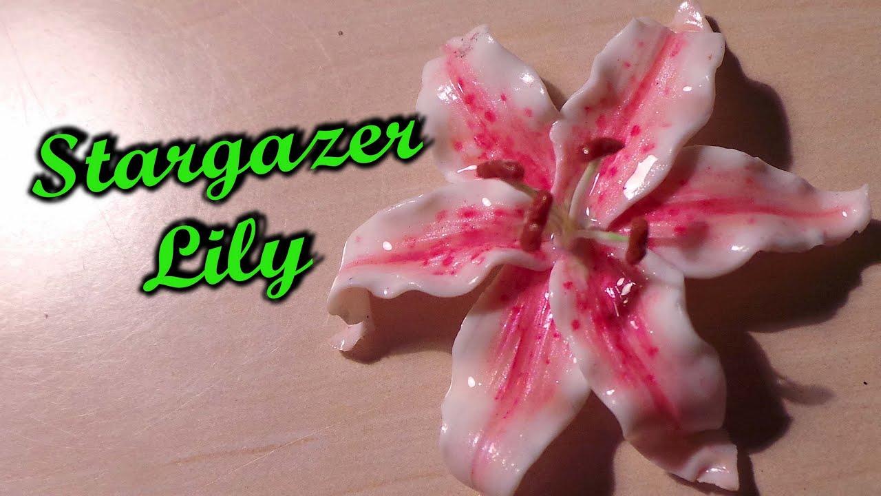 Polymer Clay Flowers Stargazer Lily Tutorial Youtube