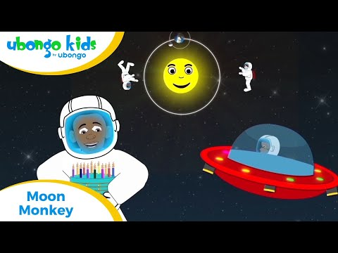 EPISODE 35: Moon Monkey! | Ubongo Kids | African Educational Cartoons