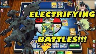 Pikachu & Zekrom TAG TEAM Battles PTCGO!!